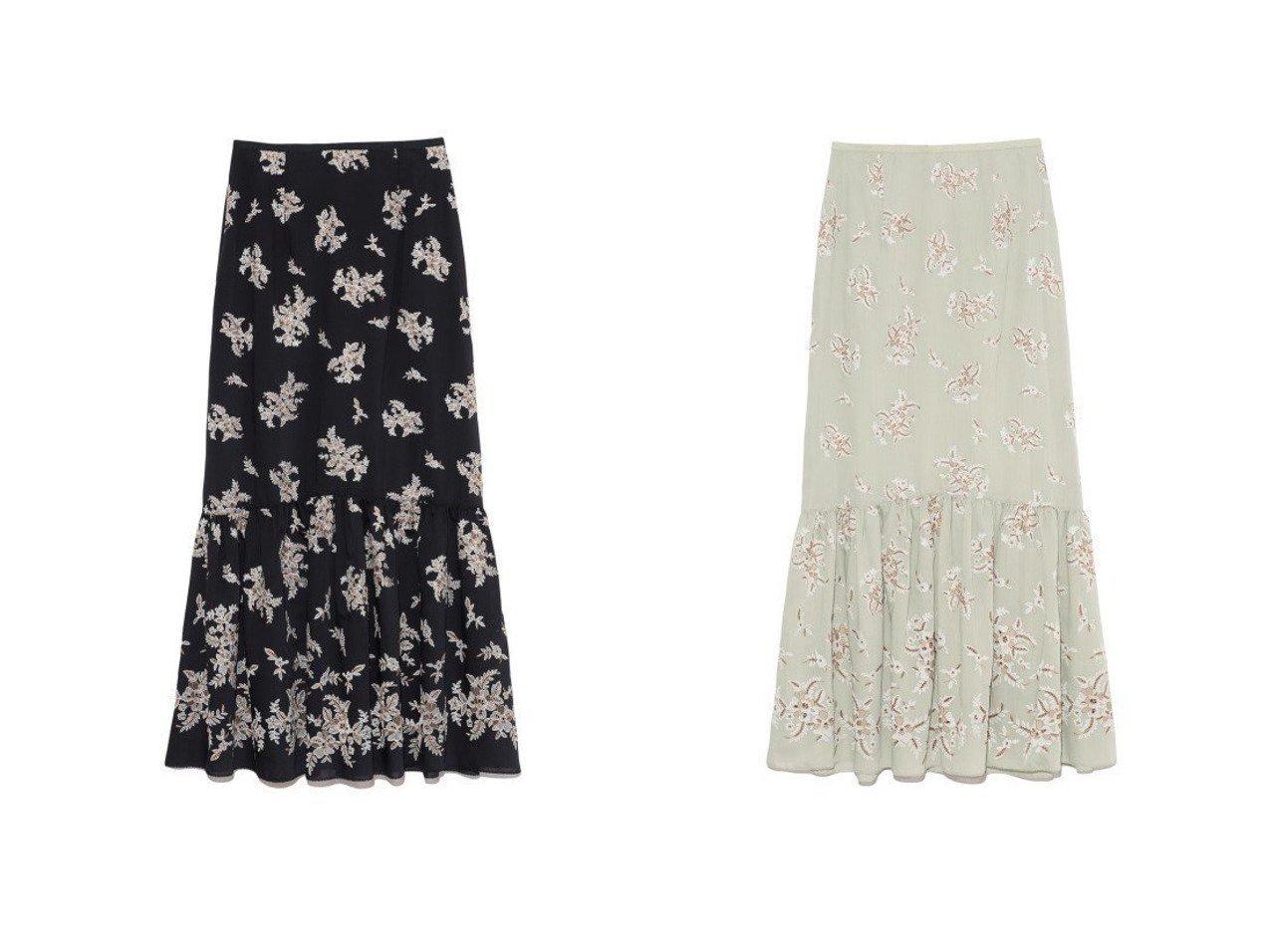 【Lily Brown/リリーブラウン】のフラワー刺繍ロングスカート Lily Brownのおすすめ!人気、トレンド・レディースファッションの通販 おすすめで人気の流行・トレンド、ファッションの通販商品 メンズファッション・キッズファッション・インテリア・家具・レディースファッション・服の通販 founy(ファニー) https://founy.com/ ファッション Fashion レディースファッション WOMEN スカート Skirt ロングスカート Long Skirt エレガント スマート セットアップ バランス フラワー フレア マーメイド ロング  ID:crp329100000019644