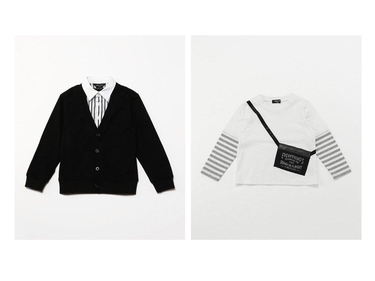 【COMME CA ISM / KIDS/コムサイズム】のサコッシュ付き レイヤード長袖Tシャツ&フェイクレイヤード 長袖シャツ(100~130cm) 【KIDS】子供服のおすすめ!人気トレンド・キッズファッションの通販 おすすめで人気の流行・トレンド、ファッションの通販商品 メンズファッション・キッズファッション・インテリア・家具・レディースファッション・服の通販 founy(ファニー) https://founy.com/ ファッション Fashion キッズファッション KIDS トップス Tops Tees Kids カーディガン ストライプ ストレッチ 長袖 |ID:crp329100000019685