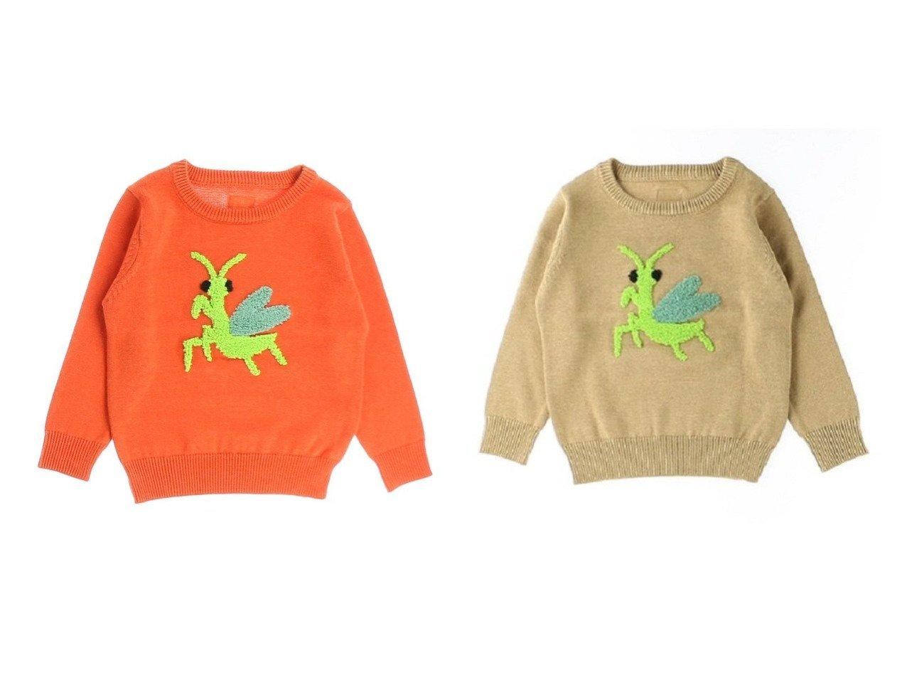 【Insect Collection / KIDS/インセクトコレクション】のさがら刺繍かまきりくんニット 【KIDS】子供服のおすすめ!人気トレンド・キッズファッションの通販 おすすめで人気の流行・トレンド、ファッションの通販商品 メンズファッション・キッズファッション・インテリア・家具・レディースファッション・服の通販 founy(ファニー) https://founy.com/ ファッション Fashion キッズファッション KIDS トップス Tops Tees Kids オレンジ カットソー 定番 Standard |ID:crp329100000019696