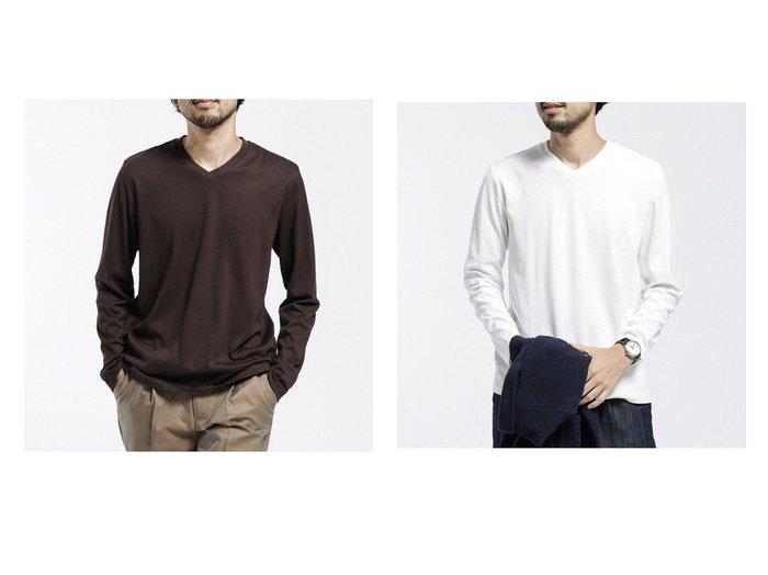 【nano universe / MEN/ナノ ユニバース】の汗染み防止 Anti Soaked ヘビーVネック 長袖 【MEN】おすすめ!人気トレンド・男性、メンズファッションの通販 おすすめファッション通販アイテム レディースファッション・服の通販 founy(ファニー) ファッション Fashion メンズファッション MEN トップス Tops Tshirt Men シャツ Shirts インナー カットソー ジャケット 定番 Standard 人気 長袖 バランス ブルゾン A/W 秋冬 AW Autumn/Winter / FW Fall-Winter 2020年 2020 2020-2021 秋冬 A/W AW Autumn/Winter / FW Fall-Winter 2020-2021  ID:crp329100000019719
