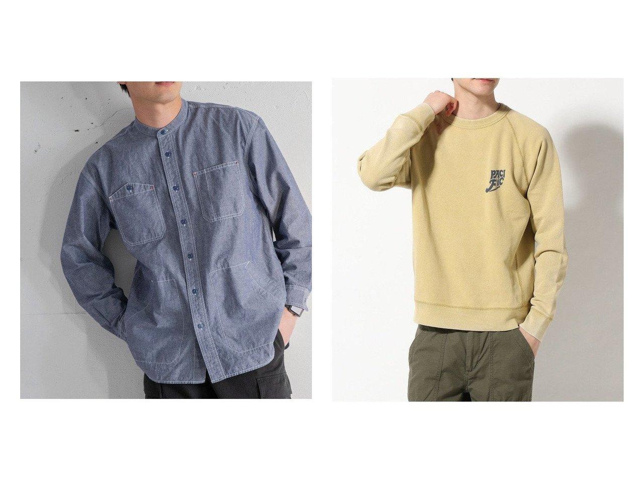 【BAYFLOW / MEN/ベイフロー】のSNOWウラケLS&【COEN / MEN/コーエン メン】のバンドカラーワークシャツジャケット 【MEN】おすすめ!人気トレンド・男性、メンズファッションの通販 おすすめで人気の流行・トレンド、ファッションの通販商品 メンズファッション・キッズファッション・インテリア・家具・レディースファッション・服の通販 founy(ファニー) https://founy.com/ ファッション Fashion メンズファッション MEN トップス Tops Tshirt Men シャンブレー ジャケット デニム 長袖 ポケット ワンポイント ワーク 2021年 2021 再入荷 Restock/Back in Stock/Re Arrival S/S 春夏 SS Spring/Summer 2021 春夏 S/S SS Spring/Summer 2021 NEW・新作・新着・新入荷 New Arrivals イエロー インナー オレンジ カットソー スウェット プリント ベーシック ヴィンテージ 人気 冬 Winter 春 Spring |ID:crp329100000019816