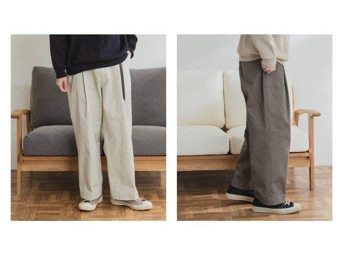 【URBAN RESEARCH DOORS / MEN/アーバンリサーチ ドアーズ】のFORK SPOON ワンタックチノパンツ 【MEN】おすすめ!人気トレンド・男性、メンズファッションの通販 おすすめファッション通販アイテム レディースファッション・服の通販 founy(ファニー) ファッション Fashion メンズファッション MEN ボトムス Bottoms Men 今季 ジーンズ 定番 Standard ベーシック ポケット ワイド NEW・新作・新着・新入荷 New Arrivals |ID:crp329100000019823