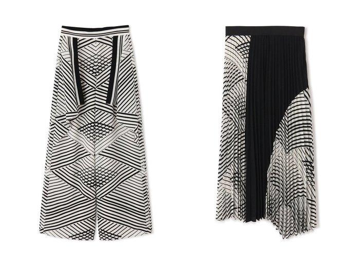 【ADORE/アドーア】のオプティカルプリントパンツ&オプティカルプリントスカート ADOREのおすすめ!人気、トレンド・レディースファッションの通販 おすすめファッション通販アイテム インテリア・キッズ・メンズ・レディースファッション・服の通販 founy(ファニー) https://founy.com/ ファッション Fashion レディースファッション WOMEN パンツ Pants スカート Skirt ロングスカート Long Skirt 2021年 2021 2021 春夏 S/S SS Spring/Summer 2021 S/S 春夏 SS Spring/Summer セットアップ プリント モノトーン ワイド 春 Spring アシンメトリー イレギュラー プリーツ ロング 無地 |ID:crp329100000019854