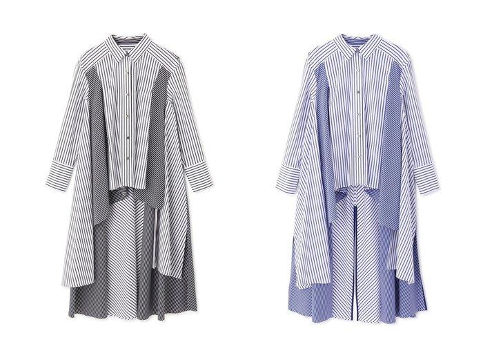 【ADORE/アドーア】のマルチピッチストライプブラウス ADOREのおすすめ!人気、トレンド・レディースファッションの通販 おすすめファッション通販アイテム レディースファッション・服の通販 founy(ファニー) ファッション Fashion レディースファッション WOMEN トップス カットソー Tops Tshirt シャツ/ブラウス Shirts Blouses 2021年 2021 2021 春夏 S/S SS Spring/Summer 2021 S/S 春夏 SS Spring/Summer ストライプ スリーブ タイプライター ドレープ ロング 春 Spring  ID:crp329100000019855