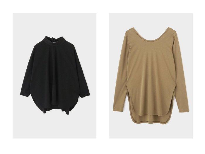 【LE PHIL/ル フィル】のコンパクトポンチブラウス&アルビニスムースロングTシャツ LE PHILのおすすめ!人気、トレンド・レディースファッションの通販 おすすめファッション通販アイテム レディースファッション・服の通販 founy(ファニー) ファッション Fashion レディースファッション WOMEN トップス カットソー Tops Tshirt シャツ/ブラウス Shirts Blouses ロング / Tシャツ T-Shirts カットソー Cut and Sewn 2021年 2021 2021 春夏 S/S SS Spring/Summer 2021 S/S 春夏 SS Spring/Summer スタンド スリーブ ロング 春 Spring シンプル スリット 長袖 |ID:crp329100000019857