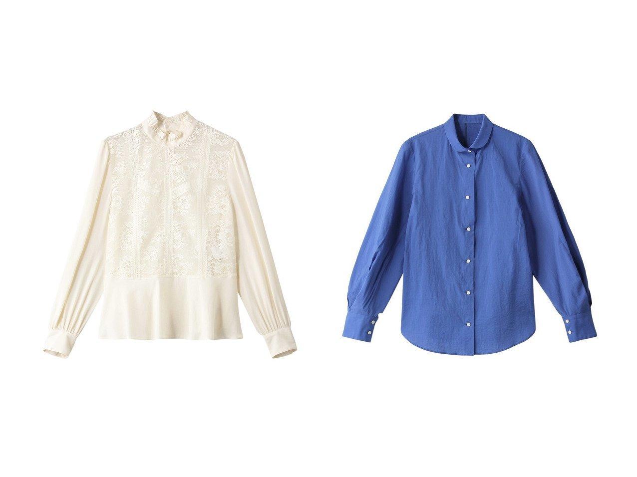 【allureville/アルアバイル】のレースジョーゼットペプラムブラウス&MANTECOパフSシャツ allurevilleのおすすめ!人気、トレンド・レディースファッションの通販 おすすめで人気の流行・トレンド、ファッションの通販商品 メンズファッション・キッズファッション・インテリア・家具・レディースファッション・服の通販 founy(ファニー) https://founy.com/ ファッション Fashion レディースファッション WOMEN トップス カットソー Tops Tshirt シャツ/ブラウス Shirts Blouses 2021年 2021 2021 春夏 S/S SS Spring/Summer 2021 S/S 春夏 SS Spring/Summer エレガント シンプル スリーブ ハイネック フリル ペプラム レース ロング 春 Spring |ID:crp329100000019873