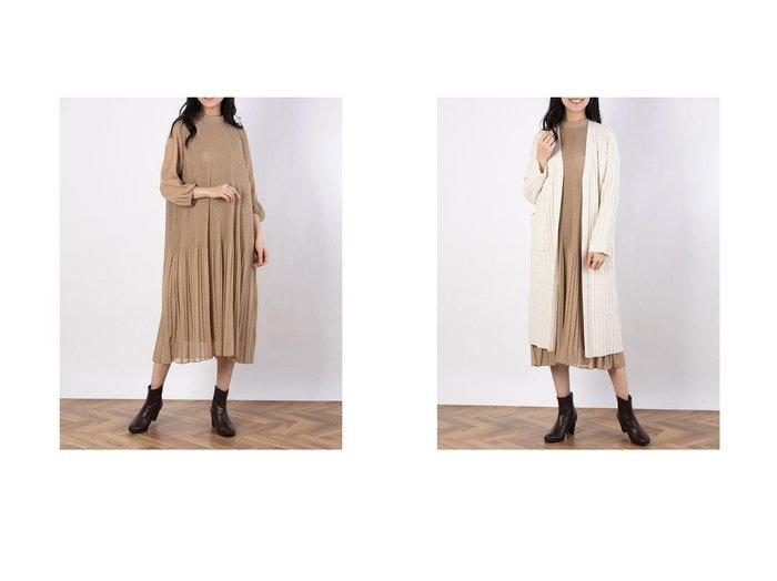 【Mila Owen/ミラオーウェン】のスタンドカラープリーツOPS&ループヤーンワイドリブニットCD Mila Owenのおすすめ!人気、トレンド・レディースファッションの通販 おすすめファッション通販アイテム インテリア・キッズ・メンズ・レディースファッション・服の通販 founy(ファニー) https://founy.com/ ファッション Fashion レディースファッション WOMEN ワンピース Dress トップス カットソー Tops Tshirt ニット Knit Tops オレンジ スタンド ドット フレア プリーツ 無地 カーディガン ガウン スマート ロング ワイド 秋 Autumn/Fall |ID:crp329100000019939