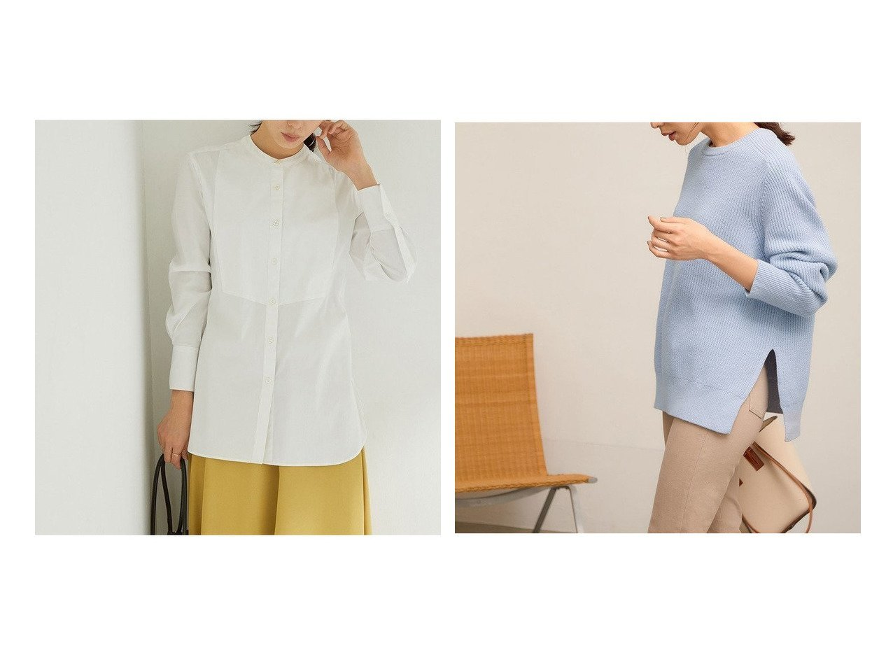 【ROPE'/ロペ】のコットンポリエステルサイドスリット畦クルーネックニット&【21SS】ハイパワーブロードボサムチュニックノーカラーシャツ ROPEのおすすめ!人気、トレンド・レディースファッションの通販 おすすめで人気の流行・トレンド、ファッションの通販商品 メンズファッション・キッズファッション・インテリア・家具・レディースファッション・服の通販 founy(ファニー) https://founy.com/ ファッション Fashion レディースファッション WOMEN トップス カットソー Tops Tshirt シャツ/ブラウス Shirts Blouses ニット Knit Tops ストライプ ストレッチ チュニック バランス ベスト ポケット 無地 2021年 2021 S/S 春夏 SS Spring/Summer 2021 春夏 S/S SS Spring/Summer 2021 スリット セーター ベーシック リラックス 春 Spring 畦 |ID:crp329100000020078
