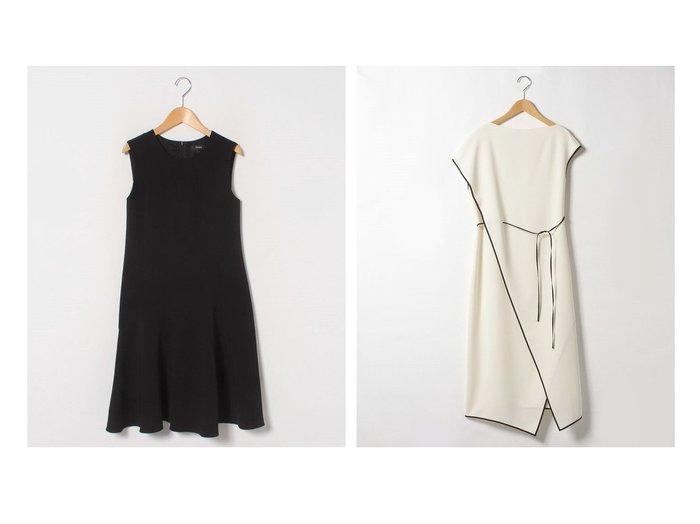 【theory/セオリー】のワンピース CLASSIC CREPE ASYM DRAPE&ワンピース CLASSIC CREPE DRAPE DR P theoryのおすすめ!人気、トレンド・レディースファッションの通販 おすすめファッション通販アイテム レディースファッション・服の通販 founy(ファニー) ファッション Fashion レディースファッション WOMEN ワンピース Dress S/S 春夏 SS Spring/Summer アシンメトリー クラシカル シェイプ ドレープ ノースリーブ 吸水 春 Spring キャップ ストレート スリーブ バランス ファブリック ロング |ID:crp329100000020127