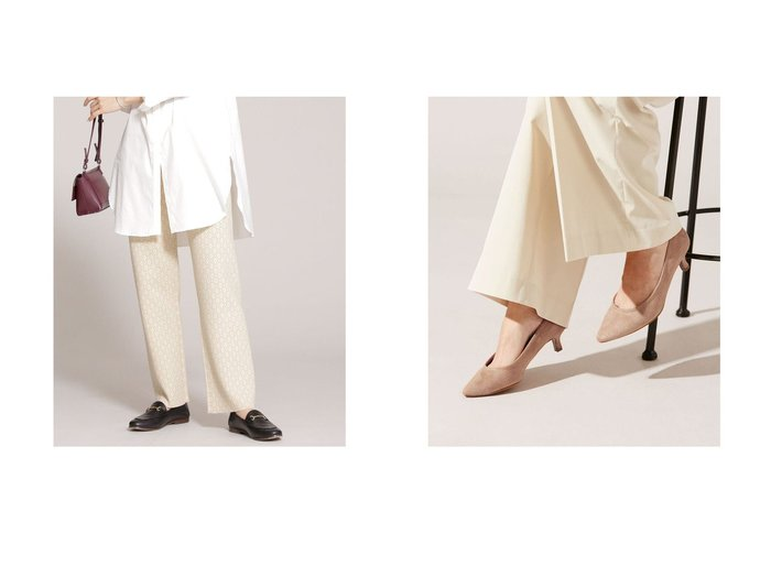 【nano universe/ナノ ユニバース】のダブルジャカードニットパンツ&5センチヒールパンプス nano universeのおすすめ!人気、トレンド・レディースファッションの通販 おすすめファッション通販アイテム インテリア・キッズ・メンズ・レディースファッション・服の通販 founy(ファニー) https://founy.com/ ファッション Fashion レディースファッション WOMEN パンツ Pants 春 Spring カーディガン 切替 ジャカード ストレート ダブル 長袖 フォルム ミドル 2021年 2021 S/S 春夏 SS Spring/Summer 2021 春夏 S/S SS Spring/Summer 2021 アーモンドトゥ インソール クッション フェイクスエード ベーシック |ID:crp329100000020137