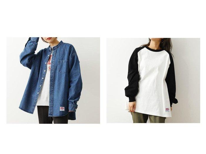 【RODEO CROWNS WIDE BOWL/ロデオクラウンズワイドボウル】のSHARE Band Collar BIG シャツ&SHARE ラグランスリーブS Tシャツ RODEO CROWNS WIDE BOWLのおすすめ!人気、トレンド・レディースファッションの通販  おすすめファッション通販アイテム レディースファッション・服の通販 founy(ファニー) ファッション Fashion レディースファッション WOMEN トップス カットソー Tops Tshirt シャツ/ブラウス Shirts Blouses ロング / Tシャツ T-Shirts カットソー Cut and Sewn NEW・新作・新着・新入荷 New Arrivals UNISEX スタンド トレンド スリーブ ロング 定番 Standard 春 Spring  ID:crp329100000020142