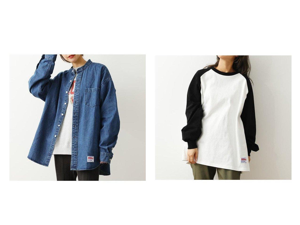 【RODEO CROWNS WIDE BOWL/ロデオクラウンズワイドボウル】のSHARE Band Collar BIG シャツ&SHARE ラグランスリーブS Tシャツ RODEO CROWNS WIDE BOWLのおすすめ!人気、トレンド・レディースファッションの通販  おすすめで人気の流行・トレンド、ファッションの通販商品 メンズファッション・キッズファッション・インテリア・家具・レディースファッション・服の通販 founy(ファニー) https://founy.com/ ファッション Fashion レディースファッション WOMEN トップス カットソー Tops Tshirt シャツ/ブラウス Shirts Blouses ロング / Tシャツ T-Shirts カットソー Cut and Sewn NEW・新作・新着・新入荷 New Arrivals UNISEX スタンド トレンド スリーブ ロング 定番 Standard 春 Spring |ID:crp329100000020142