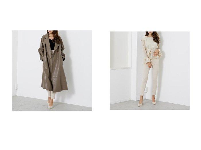 【rienda/リエンダ】のフェイクレザーオーバーCT&エコレザーポケットW DENIMスキニーPT riendaのおすすめ!人気、トレンド・レディースファッションの通販  おすすめファッション通販アイテム レディースファッション・服の通販 founy(ファニー) ファッション Fashion レディースファッション WOMEN アウター Coat Outerwear パンツ Pants 2021年 2021 2021 春夏 S/S SS Spring/Summer 2021 S/S 春夏 SS Spring/Summer インナー トレンド パターン フェイクレザー 春 Spring スキニー ポケット  ID:crp329100000020146