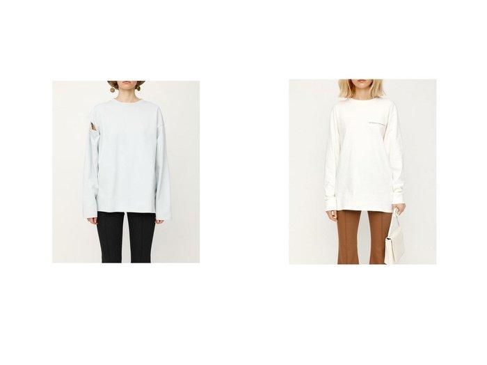 【SLY/スライ】のCUTTING SLEEVE トップス&BREATH PHOTO Tシャツ SLYのおすすめ!人気、トレンド・レディースファッションの通販  おすすめファッション通販アイテム レディースファッション・服の通販 founy(ファニー) ファッション Fashion レディースファッション WOMEN トップス カットソー Tops Tshirt シャツ/ブラウス Shirts Blouses ロング / Tシャツ T-Shirts 2021年 2021 2021 春夏 S/S SS Spring/Summer 2021 S/S 春夏 SS Spring/Summer カッティング 春 Spring  ID:crp329100000020152
