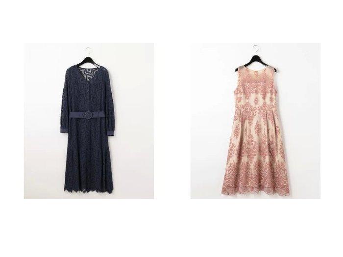 【GRACE CONTINENTAL/グレース コンチネンタル】のハートコードレースドレス&ラメフラワー刺繍ドレス GRACE CONTINENTALのおすすめ!人気、トレンド・レディースファッションの通販  おすすめファッション通販アイテム レディースファッション・服の通販 founy(ファニー) ファッション Fashion レディースファッション WOMEN ワンピース Dress ドレス Party Dresses ドレス フォーマル フラワー |ID:crp329100000020167