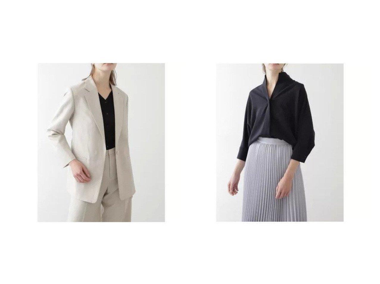 【BOSCH/ボッシュ】のウール麻セットアップジャケット&VISPOLYNOトロピカルセットアップシャツ BOSCHのおすすめ!人気、トレンド・レディースファッションの通販  おすすめで人気の流行・トレンド、ファッションの通販商品 メンズファッション・キッズファッション・インテリア・家具・レディースファッション・服の通販 founy(ファニー) https://founy.com/ ファッション Fashion レディースファッション WOMEN アウター Coat Outerwear ジャケット Jackets トップス カットソー Tops Tshirt シャツ/ブラウス Shirts Blouses セットアップ Setup トップス Tops シャンブレー ジャケット スタンダード セットアップ ポケット リラックス |ID:crp329100000020173