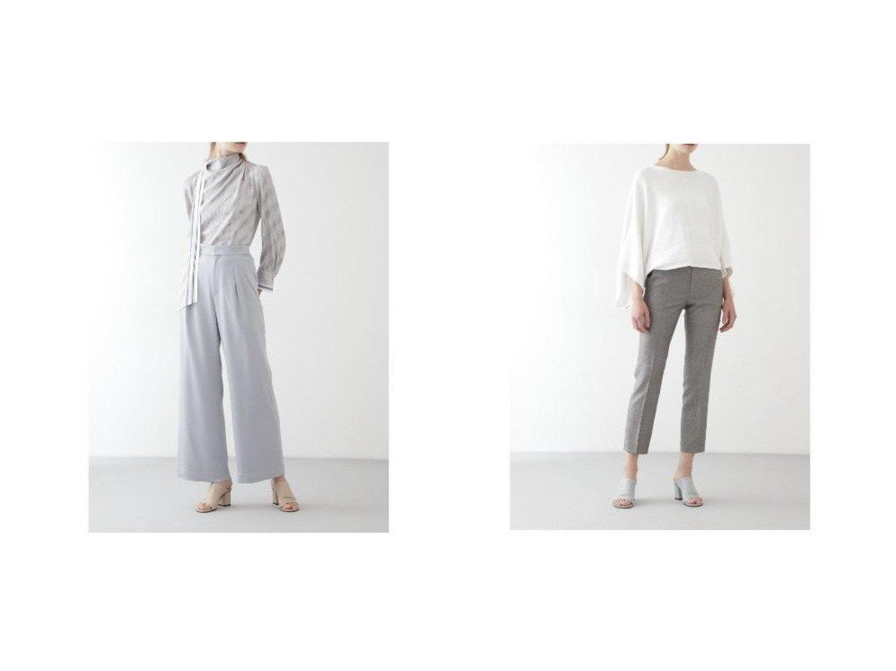 【BOSCH/ボッシュ】のハンマーサテンタックパンツ&ウール麻セットアップクロップドパンツ BOSCHのおすすめ!人気、トレンド・レディースファッションの通販  おすすめで人気の流行・トレンド、ファッションの通販商品 メンズファッション・キッズファッション・インテリア・家具・レディースファッション・服の通販 founy(ファニー) https://founy.com/ ファッション Fashion レディースファッション WOMEN パンツ Pants セットアップ Setup パンツ Pants ギャザー サテン スタンダード ドレープ フロント ポケット モダン リラックス ワイド シャンブレー パターン マニッシュ 定番 Standard |ID:crp329100000020175