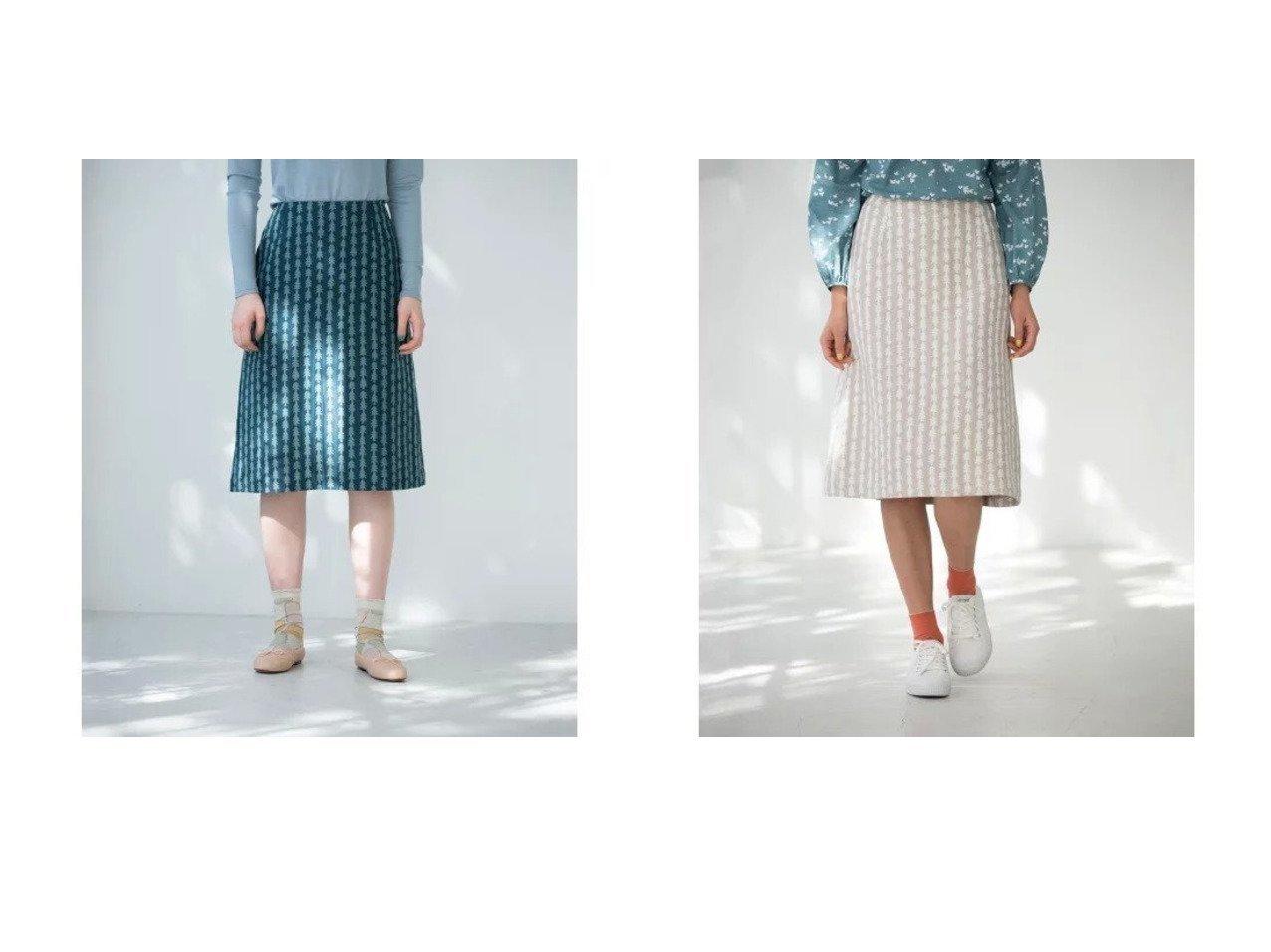 【Sally Scott/サリースコット】のスカート Sally Scottのおすすめ!人気、トレンド・レディースファッションの通販  おすすめで人気の流行・トレンド、ファッションの通販商品 メンズファッション・キッズファッション・インテリア・家具・レディースファッション・服の通販 founy(ファニー) https://founy.com/ ファッション Fashion レディースファッション WOMEN スカート Skirt 春 Spring キュプラ ストライプ 手描き フォルム ポケット モチーフ |ID:crp329100000020198