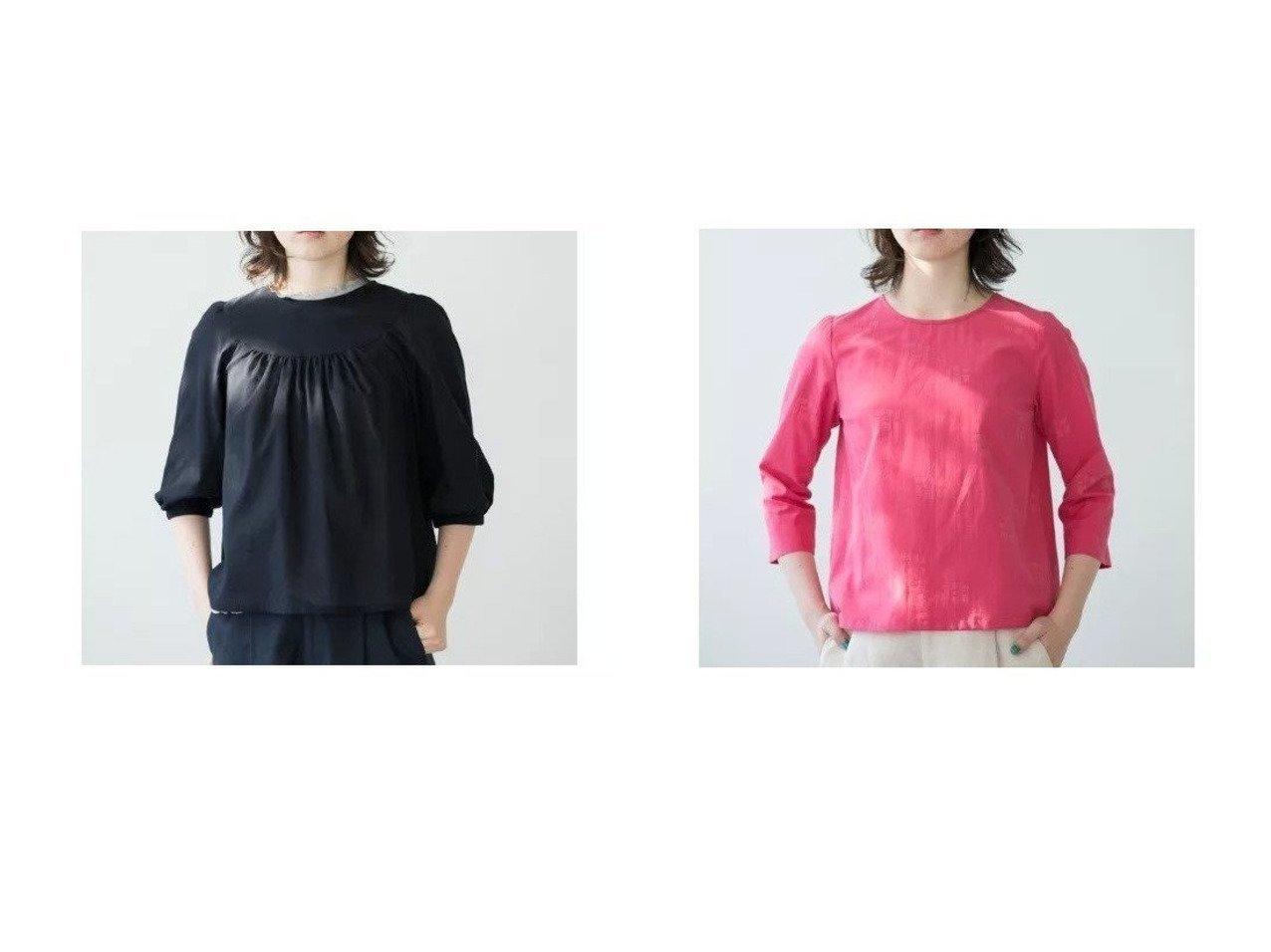 【Sally Scott/サリースコット】のブラウス&ブラウス Sally Scottのおすすめ!人気、トレンド・レディースファッションの通販  おすすめで人気の流行・トレンド、ファッションの通販商品 メンズファッション・キッズファッション・インテリア・家具・レディースファッション・服の通販 founy(ファニー) https://founy.com/ ファッション Fashion レディースファッション WOMEN トップス カットソー Tops Tshirt シャツ/ブラウス Shirts Blouses ギャザー スリーブ 長袖 フォルム ヨーク 春 Spring ジャカード モチーフ ローズ |ID:crp329100000020200