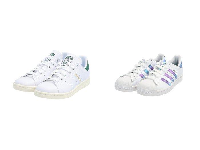 【adidas Originals/アディダス オリジナルス】のスーパースター SUPERSTAR アディダスオリジナルス&スタンスミス STAN SMITH アディダスオリジナルス adidasのおすすめ!人気、トレンド・レディースファッションの通販  おすすめファッション通販アイテム インテリア・キッズ・メンズ・レディースファッション・服の通販 founy(ファニー) https://founy.com/ ファッション Fashion レディースファッション WOMEN クラシック シューズ スニーカー スリッポン フィット レギュラー レース パッチ パープル |ID:crp329100000020206