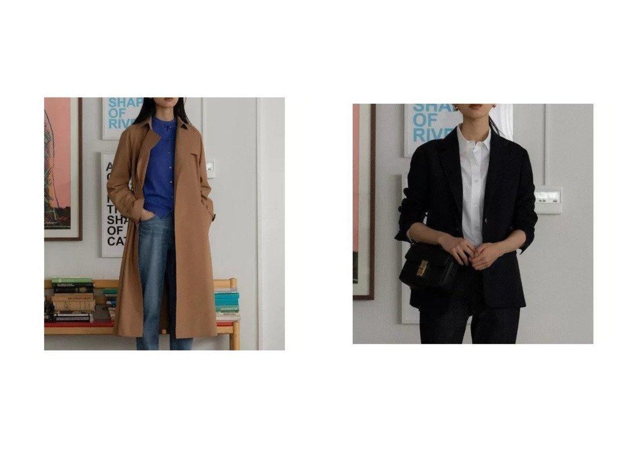 【NIJYUSANKU/23区】のポリエステルビスコース クリアストレッチ ジャケット&ハイツイストコットンツイル トレンチコート 23区のおすすめ!人気、トレンド・レディースファッションの通販  おすすめで人気の流行・トレンド、ファッションの通販商品 メンズファッション・キッズファッション・インテリア・家具・レディースファッション・服の通販 founy(ファニー) https://founy.com/ ファッション Fashion レディースファッション WOMEN アウター Coat Outerwear コート Coats トレンチコート Trench Coats ジャケット Jackets エレガント シンプル スタンダード ダブル 定番 Standard ラップ 2021年 2021 S/S 春夏 SS Spring/Summer 2021 春夏 S/S SS Spring/Summer 2021  ID:crp329100000020242