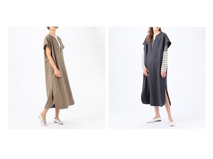 【GALERIE VIE / TOMORROWLAND/ギャルリー ヴィー】のウールサキソニー キーネックサックワンピース TOMORROWLANDのおすすめ!人気、トレンド・レディースファッションの通販  おすすめファッション通販アイテム レディースファッション・服の通販 founy(ファニー) ファッション Fashion レディースファッション WOMEN ワンピース Dress カットソー スリット スリーブ タートル リラックス |ID:crp329100000020255