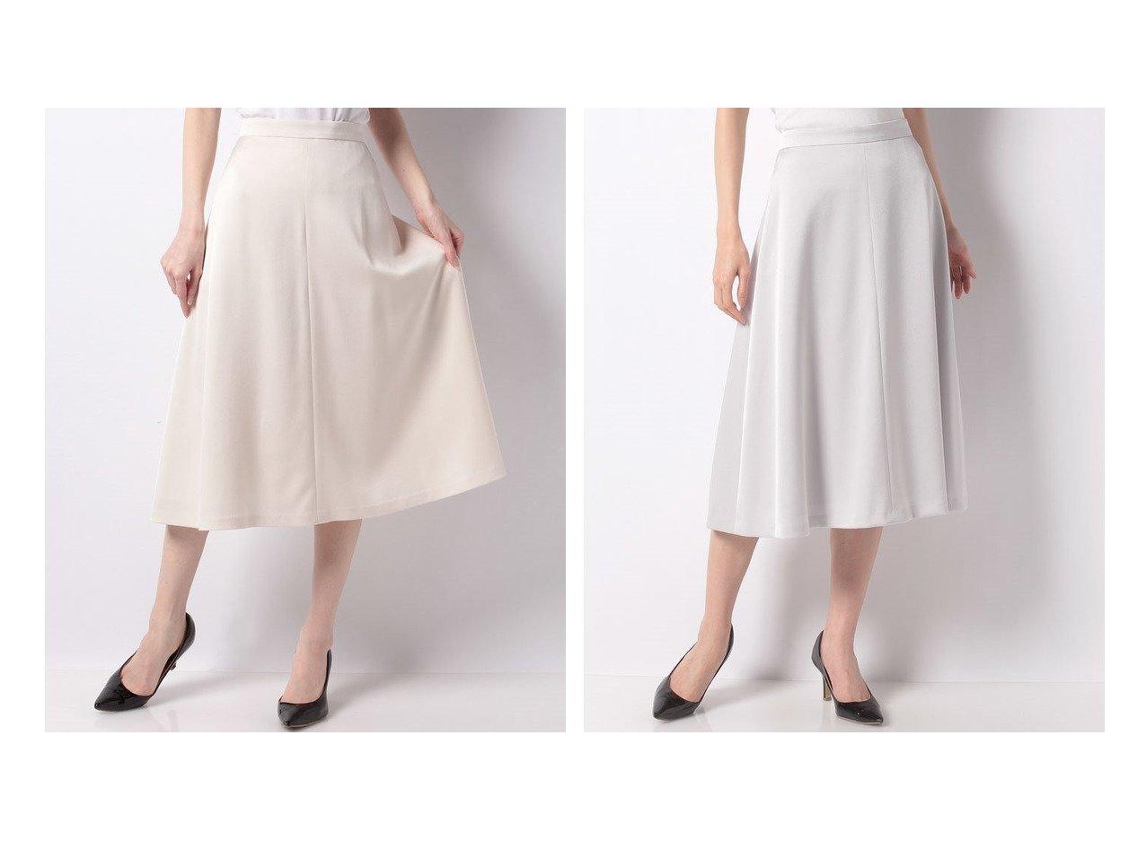 【ANAYI/アナイ】の【セットアップ対応商品】【2021 Eternal Line】トリアセテートサテンセミフレアスカート ANAYIのおすすめ!人気、トレンド・レディースファッションの通販  おすすめで人気の流行・トレンド、ファッションの通販商品 メンズファッション・キッズファッション・インテリア・家具・レディースファッション・服の通販 founy(ファニー) https://founy.com/ ファッション Fashion レディースファッション WOMEN セットアップ Setup スカート Skirt スカート Skirt Aライン/フレアスカート Flared A-Line Skirts エレガント ギャザー サテン セットアップ ダウン フレア |ID:crp329100000020267