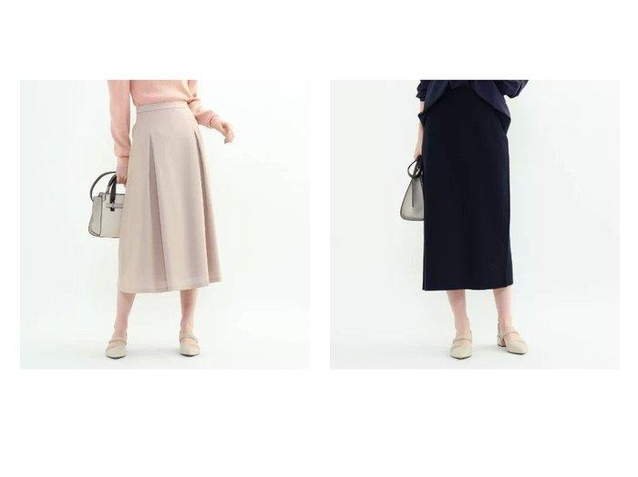 【INDIVI/インディヴィ】のモノリスツイルフレアスカート&スプリングプルートナロースカート INDIVIのおすすめ!人気、トレンド・レディースファッションの通販  おすすめファッション通販アイテム レディースファッション・服の通販 founy(ファニー) ファッション Fashion レディースファッション WOMEN スカート Skirt Aライン/フレアスカート Flared A-Line Skirts インナー 春 Spring コンパクト ショート ツイル フレア フレアースカート ボックス ポケット ロング 冬 Winter セットアップ フィット 楽ちん |ID:crp329100000020273