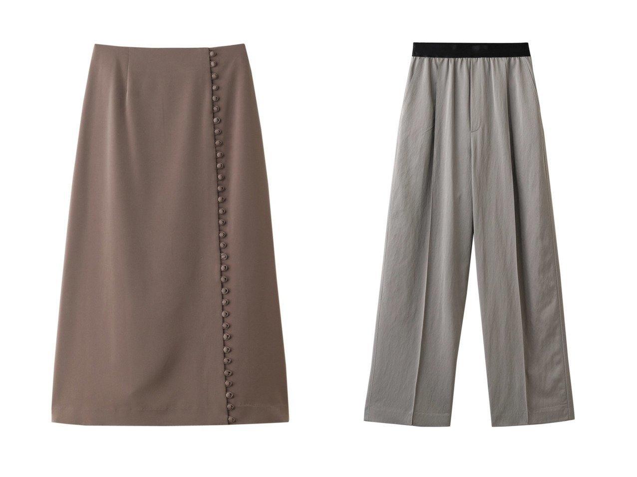 【LE CIEL BLEU/ルシェル ブルー】のラップボタンディティールスカート&エラスティックウエストパンツ LE CIEL BLEUのおすすめ!人気、トレンド・レディースファッションの通販 おすすめで人気の流行・トレンド、ファッションの通販商品 メンズファッション・キッズファッション・インテリア・家具・レディースファッション・服の通販 founy(ファニー) https://founy.com/ ファッション Fashion レディースファッション WOMEN スカート Skirt パンツ Pants 2021年 2021 2021 春夏 S/S SS Spring/Summer 2021 S/S 春夏 SS Spring/Summer ストレッチ フレア フロント ラップ 春 Spring |ID:crp329100000020311