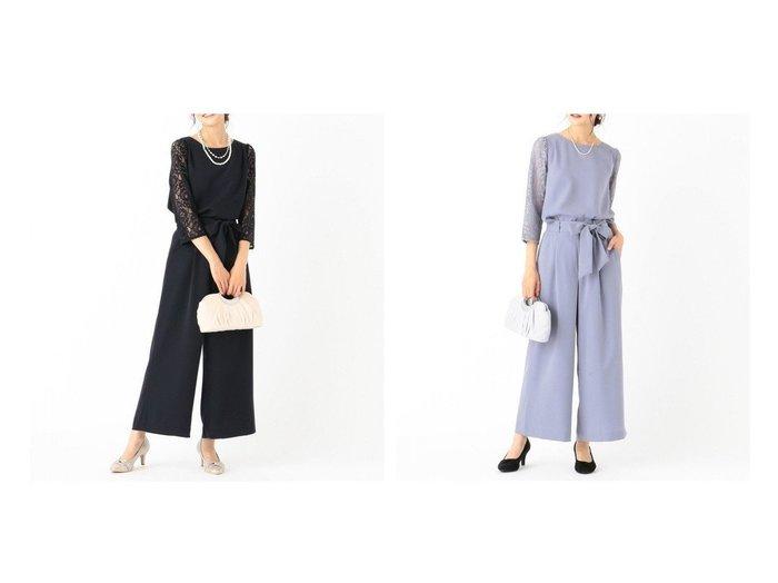 【any SiS/エニィ スィス】の【2SET】レディワイドパンツ セットアップ any SiSのおすすめ!人気、トレンド・レディースファッションの通販 おすすめファッション通販アイテム インテリア・キッズ・メンズ・レディースファッション・服の通販 founy(ファニー) https://founy.com/ ファッション Fashion レディースファッション WOMEN セットアップ Setup パンツ Pants エレガント ストレッチ セットアップ フェミニン フォーマル ボトム リボン レース ワイド 定番 Standard |ID:crp329100000020319