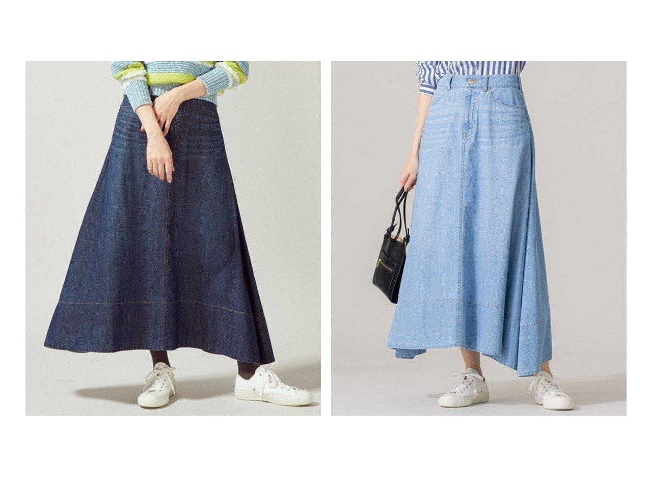 【KUMIKYOKU/組曲】のライトオンス デニム マキシ デニムスカート 組曲のおすすめ!人気、トレンド・レディースファッションの通販 おすすめで人気の流行・トレンド、ファッションの通販商品 メンズファッション・キッズファッション・インテリア・家具・レディースファッション・服の通販 founy(ファニー) https://founy.com/ ファッション Fashion レディースファッション WOMEN スカート Skirt デニムスカート Denim Skirts 春 Spring コンパクト タイツ デニム ドレープ フレア マキシ ロング 2021年 2021 S/S 春夏 SS Spring/Summer 2021 春夏 S/S SS Spring/Summer 2021 送料無料 Free Shipping  ID:crp329100000020326