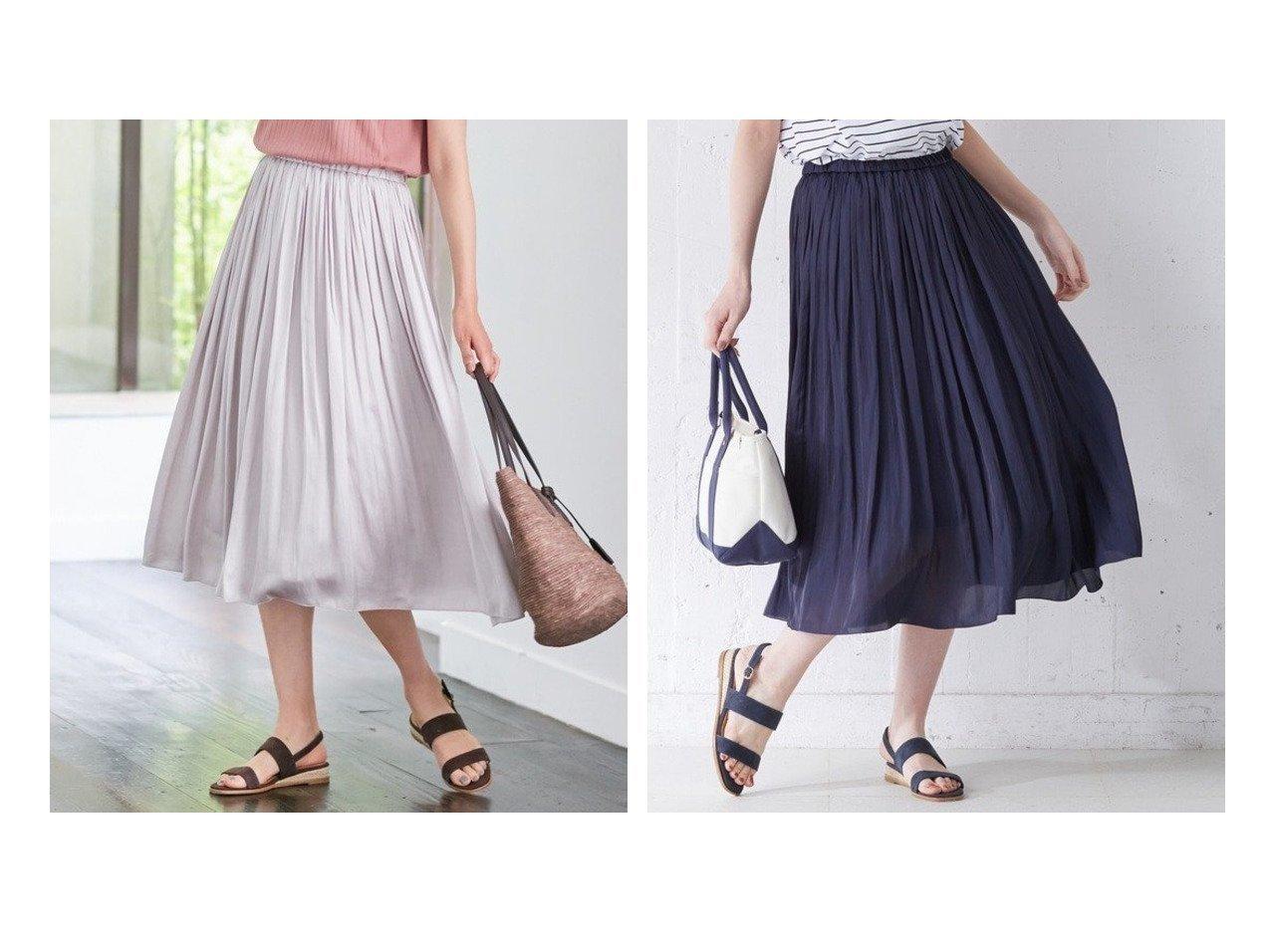 【J.PRESS/ジェイ プレス】の【洗える】ヴィンテージサテン スカート J.PRESSのおすすめ!人気、トレンド・レディースファッションの通販 おすすめで人気の流行・トレンド、ファッションの通販商品 メンズファッション・キッズファッション・インテリア・家具・レディースファッション・服の通販 founy(ファニー) https://founy.com/ ファッション Fashion レディースファッション WOMEN スカート Skirt 送料無料 Free Shipping シャンブレー シンプル プリーツ リラックス 洗える |ID:crp329100000020344