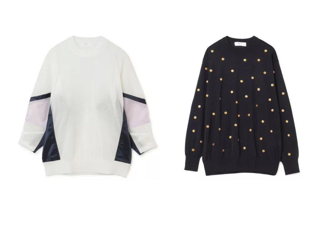 【TOGA PULLA/トーガ プルラ】のDot knit pullover&High twist jersey top TOGA PULLAのおすすめ!人気、トレンド・レディースファッションの通販 おすすめで人気の流行・トレンド、ファッションの通販商品 メンズファッション・キッズファッション・インテリア・家具・レディースファッション・服の通販 founy(ファニー) https://founy.com/ ファッション Fashion レディースファッション WOMEN トップス カットソー Tops Tshirt シャツ/ブラウス Shirts Blouses ロング / Tシャツ T-Shirts カットソー Cut and Sewn ニット Knit Tops プルオーバー Pullover 2021年 2021 2021 春夏 S/S SS Spring/Summer 2021 S/S 春夏 SS Spring/Summer カットソー サテン スタイリッシュ スポーツ モダン 洗える 長袖 |ID:crp329100000020359