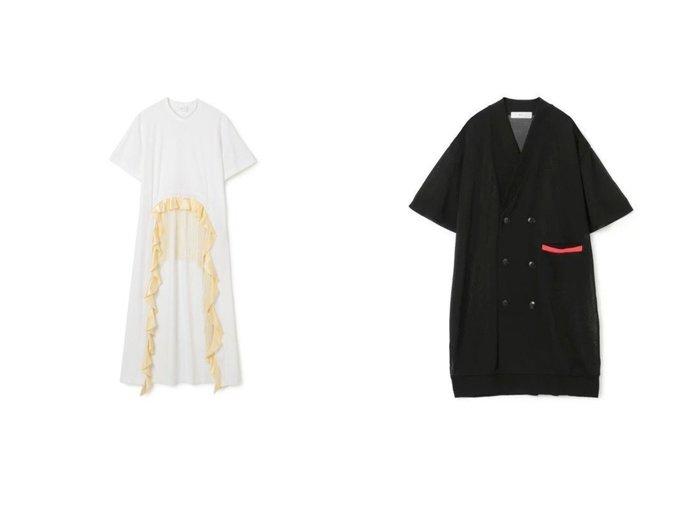 【TOGA PULLA/トーガ プルラ】のTricot jersey dress&High twist jersey cardigan TOGA PULLAのおすすめ!人気、トレンド・レディースファッションの通販 おすすめファッション通販アイテム インテリア・キッズ・メンズ・レディースファッション・服の通販 founy(ファニー) https://founy.com/ ファッション Fashion レディースファッション WOMEN ワンピース Dress ドレス Party Dresses シャツワンピース Shirt Dresses トップス カットソー Tops Tshirt カーディガン Cardigans 2021年 2021 2021 春夏 S/S SS Spring/Summer 2021 S/S 春夏 SS Spring/Summer サテン ジャージー ドレス フォーマル フリル フリンジ フロント ボトム ロング 半袖 洗える |ID:crp329100000020360