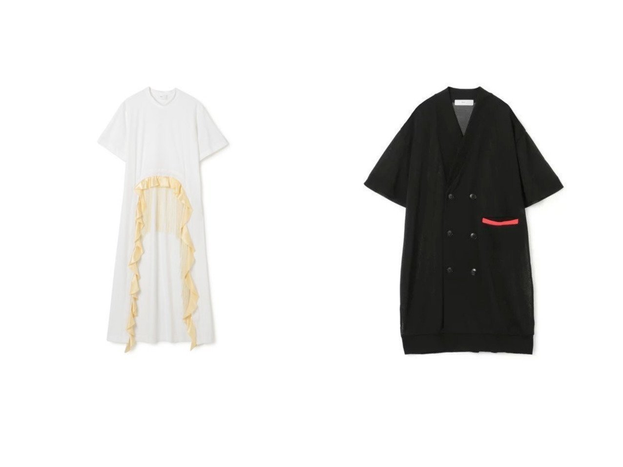 【TOGA PULLA/トーガ プルラ】のTricot jersey dress&High twist jersey cardigan TOGA PULLAのおすすめ!人気、トレンド・レディースファッションの通販 おすすめで人気の流行・トレンド、ファッションの通販商品 メンズファッション・キッズファッション・インテリア・家具・レディースファッション・服の通販 founy(ファニー) https://founy.com/ ファッション Fashion レディースファッション WOMEN ワンピース Dress ドレス Party Dresses シャツワンピース Shirt Dresses トップス カットソー Tops Tshirt カーディガン Cardigans 2021年 2021 2021 春夏 S/S SS Spring/Summer 2021 S/S 春夏 SS Spring/Summer サテン ジャージー ドレス フォーマル フリル フリンジ フロント ボトム ロング 半袖 洗える |ID:crp329100000020360