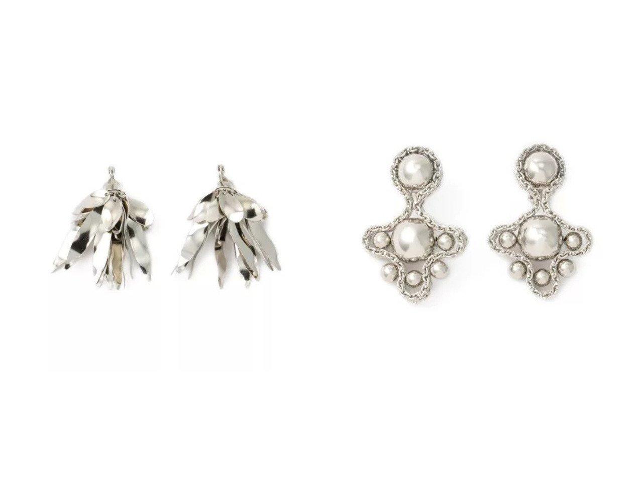 【TOGA PULLA/トーガ プルラ】のLeaf earrings&Clover earrings TOGA PULLAのおすすめ!人気、トレンド・レディースファッションの通販 おすすめで人気の流行・トレンド、ファッションの通販商品 メンズファッション・キッズファッション・インテリア・家具・レディースファッション・服の通販 founy(ファニー) https://founy.com/ ファッション Fashion レディースファッション WOMEN ジュエリー Jewelry リング Rings イヤリング Earrings 2021年 2021 2021 春夏 S/S SS Spring/Summer 2021 S/S 春夏 SS Spring/Summer アクセサリー イヤリング シルバー モチーフ リーフ ストーン チェーン ドレス モダン |ID:crp329100000020361