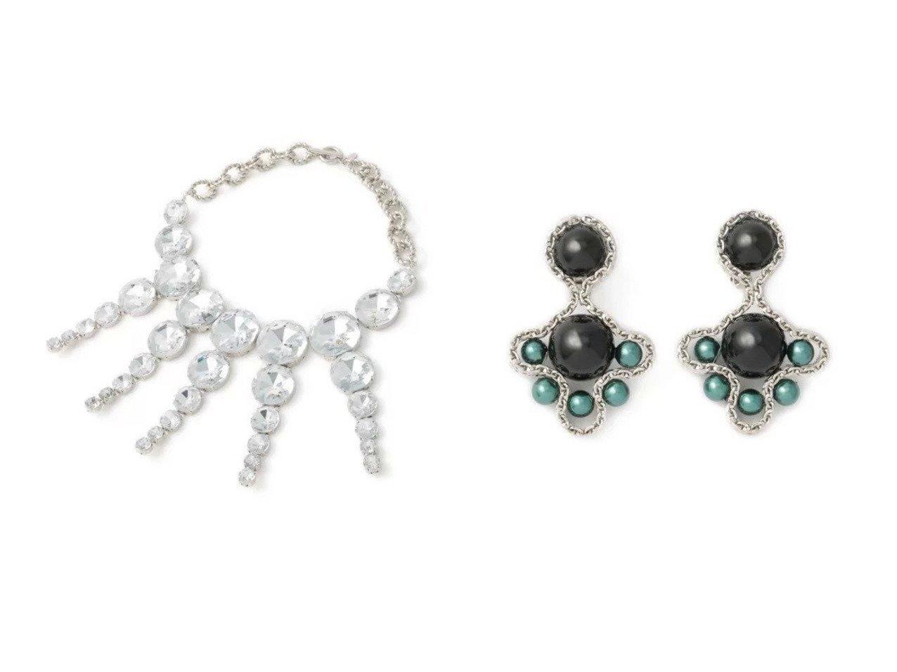 【TOGA PULLA/トーガ プルラ】のClover earrings&Rhinestone necklace TOGA PULLAのおすすめ!人気、トレンド・レディースファッションの通販 おすすめで人気の流行・トレンド、ファッションの通販商品 メンズファッション・キッズファッション・インテリア・家具・レディースファッション・服の通販 founy(ファニー) https://founy.com/ ファッション Fashion レディースファッション WOMEN ジュエリー Jewelry ネックレス Necklaces リング Rings イヤリング Earrings 2021年 2021 2021 春夏 S/S SS Spring/Summer 2021 S/S 春夏 SS Spring/Summer アクセサリー シンプル ストーン ネックレス ラグジュアリー イヤリング チェーン ドレス モダン |ID:crp329100000020362