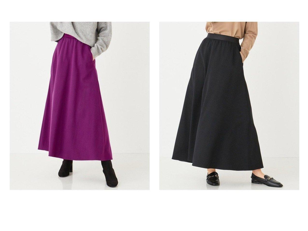 【#Newans/ハッシュニュアンス】の【GISELe2月号掲載】ウール混ストレッチツイルフレアスカート ファッション雑誌、  GISELe掲載!おすすめ人気トレンド・レディースファッション通販 おすすめで人気の流行・トレンド、ファッションの通販商品 メンズファッション・キッズファッション・インテリア・家具・レディースファッション・服の通販 founy(ファニー) https://founy.com/ 雑誌掲載アイテム Magazine items ファッション雑誌 Fashion magazines ジゼル GISELe ファッション Fashion レディースファッション WOMEN スカート Skirt Aライン/フレアスカート Flared A-Line Skirts ウォッシャブル 雑誌 ツイル 2月号 パープル フレア 冬 Winter 送料無料 Free Shipping |ID:crp329100000020464
