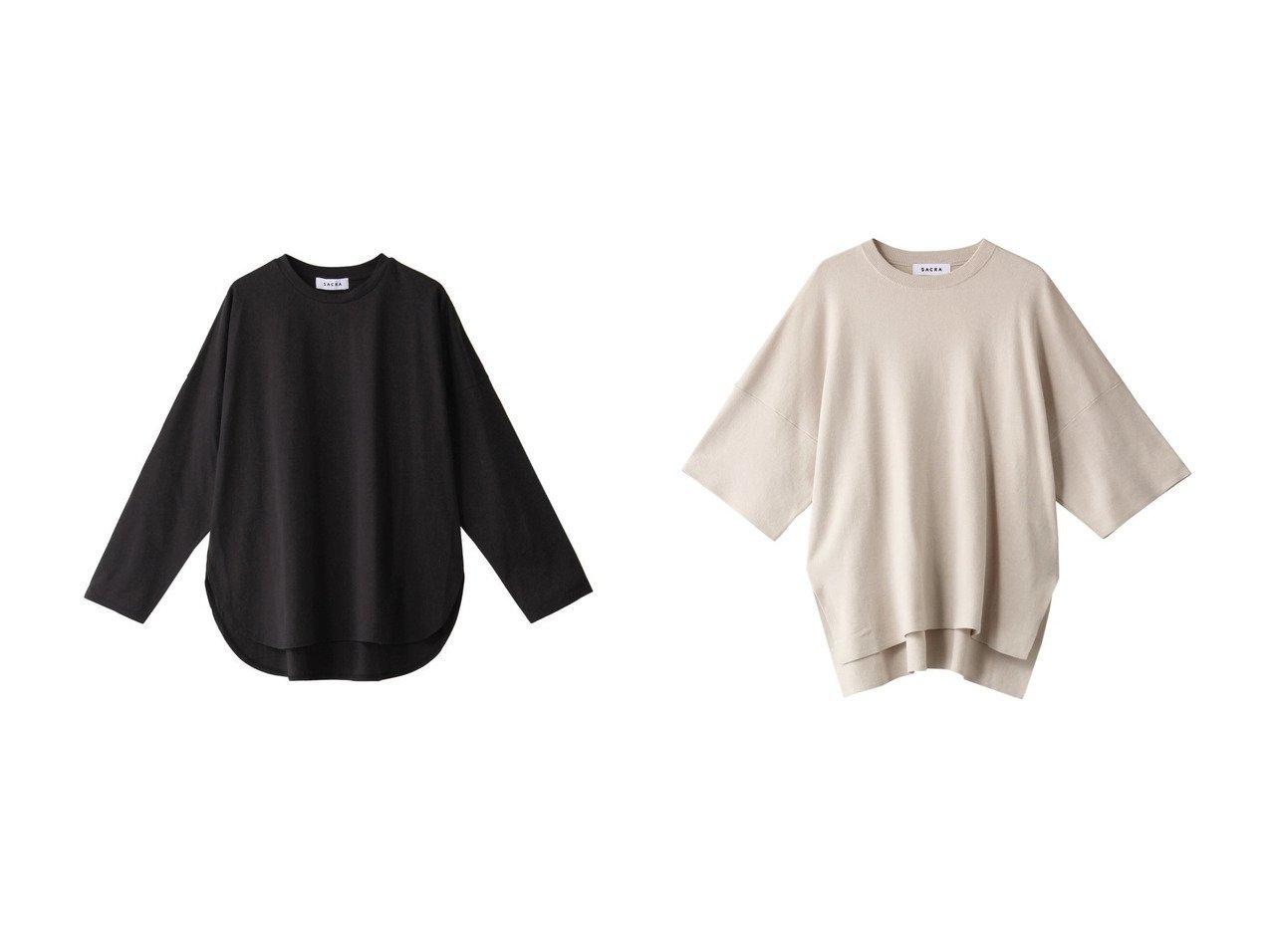 【SACRA/サクラ】のコンパクトシルクコットンロングスリーブTシャツ&コットンダブルニットプルオーバー SACRAのおすすめ!人気、トレンド・レディースファッションの通販 おすすめで人気の流行・トレンド、ファッションの通販商品 メンズファッション・キッズファッション・インテリア・家具・レディースファッション・服の通販 founy(ファニー) https://founy.com/ ファッション Fashion レディースファッション WOMEN トップス カットソー Tops Tshirt シャツ/ブラウス Shirts Blouses ロング / Tシャツ T-Shirts カットソー Cut and Sewn ニット Knit Tops プルオーバー Pullover 2021年 2021 2021 春夏 S/S SS Spring/Summer 2021 S/S 春夏 SS Spring/Summer なめらか シルク シンプル スリーブ リラックス ロング 定番 Standard 春 Spring |ID:crp329100000020496
