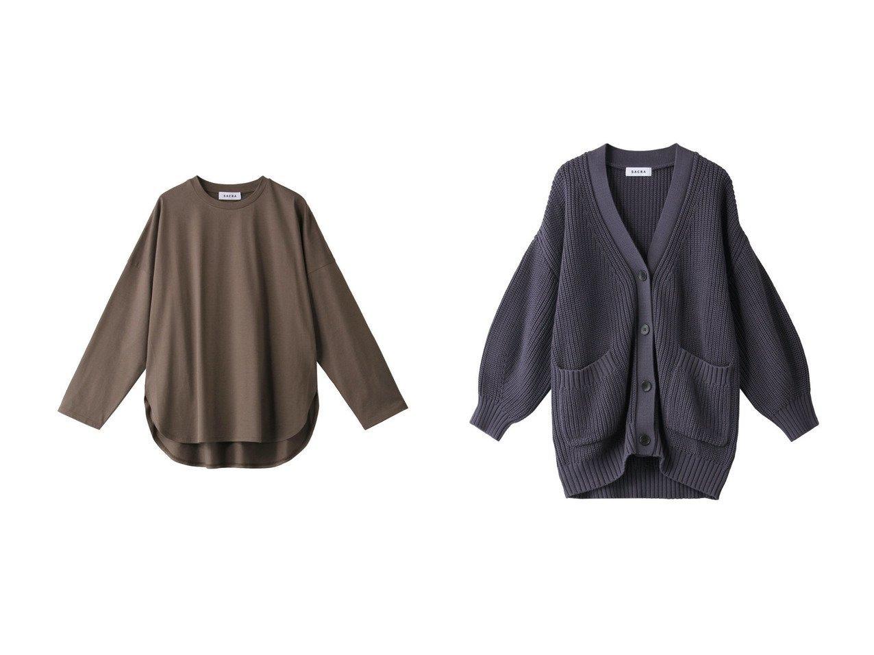 【SACRA/サクラ】のコンパクトシルクコットンロングスリーブTシャツ&コードツイストコットンニットカーディガン SACRAのおすすめ!人気、トレンド・レディースファッションの通販 おすすめで人気の流行・トレンド、ファッションの通販商品 メンズファッション・キッズファッション・インテリア・家具・レディースファッション・服の通販 founy(ファニー) https://founy.com/ ファッション Fashion レディースファッション WOMEN トップス カットソー Tops Tshirt シャツ/ブラウス Shirts Blouses ロング / Tシャツ T-Shirts カットソー Cut and Sewn ニット Knit Tops カーディガン Cardigans 2021年 2021 2021 春夏 S/S SS Spring/Summer 2021 S/S 春夏 SS Spring/Summer なめらか シルク シンプル スリーブ リラックス ロング 定番 Standard 春 Spring |ID:crp329100000020499