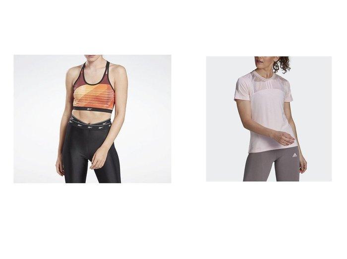 【adidas/アディダス】のU4U AEROREADY 半袖Tシャツ U4U AEROREADY Tee&【Reebok/リーボック】のキレイ フィット オールオーバー プリント ライトインパクト ブラ Kirei Fit Allover Print Light-Impact Bra スポーツ・ヨガウェア、運動・ダイエットグッズなどのおすすめ!人気、トレンド・レディースファッションの通販 おすすめファッション通販アイテム レディースファッション・服の通販 founy(ファニー) ファッション Fashion レディースファッション WOMEN トップス カットソー Tops Tshirt スポーツウェア Sportswear スポーツ トップス Tops シャツ/ブラウス Shirts Blouses ロング / Tシャツ T-Shirts カットソー Cut and Sewn NEW・新作・新着・新入荷 New Arrivals クール スタイリッシュ スポーツ フィット プリント ヨガ ジャージー タイツ デニム メッシュ レギュラー 半袖 |ID:crp329100000020521