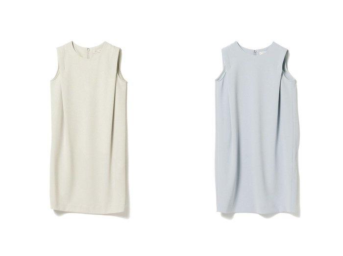 【Demi-Luxe BEAMS/デミルクス ビームス】のDemi- サイドタック ノースリーブワンピース BEAMSのおすすめ!人気、トレンド・レディースファッションの通販 おすすめファッション通販アイテム レディースファッション・服の通販 founy(ファニー) ファッション Fashion レディースファッション WOMEN ワンピース Dress シャツワンピース Shirt Dresses ジョーゼット ストレート ノースリーブ 人気 |ID:crp329100000020565