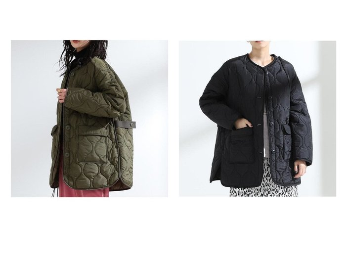 【Ray BEAMS/レイ ビームス】のキルティング ノーカラー ブルゾン BEAMSのおすすめ!人気、トレンド・レディースファッションの通販 おすすめファッション通販アイテム レディースファッション・服の通販 founy(ファニー) ファッション Fashion レディースファッション WOMEN アウター Coat Outerwear ブルゾン Blouson Jackets キルティング シンプル ブルゾン 再入荷 Restock/Back in Stock/Re Arrival 冬 Winter |ID:crp329100000020567