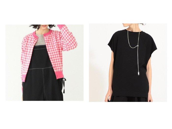 【BEAMS BOY/ビームス ボーイ】のDrop Sholder 2S&14ゲージ ジャカード ギンガム カーディガン BEAMS BOYのおすすめ!人気、トレンド・レディースファッションの通販 おすすめファッション通販アイテム レディースファッション・服の通販 founy(ファニー) ファッション Fashion レディースファッション WOMEN トップス カットソー Tops Tshirt ニット Knit Tops カーディガン Cardigans シャツ/ブラウス Shirts Blouses ロング / Tシャツ T-Shirts カットソー Cut and Sewn NEW・新作・新着・新入荷 New Arrivals カーディガン ギンガム ジャカード チェック トレンド ボトム 定番 Standard 長袖 カットソー ヴィンテージ  ID:crp329100000020570