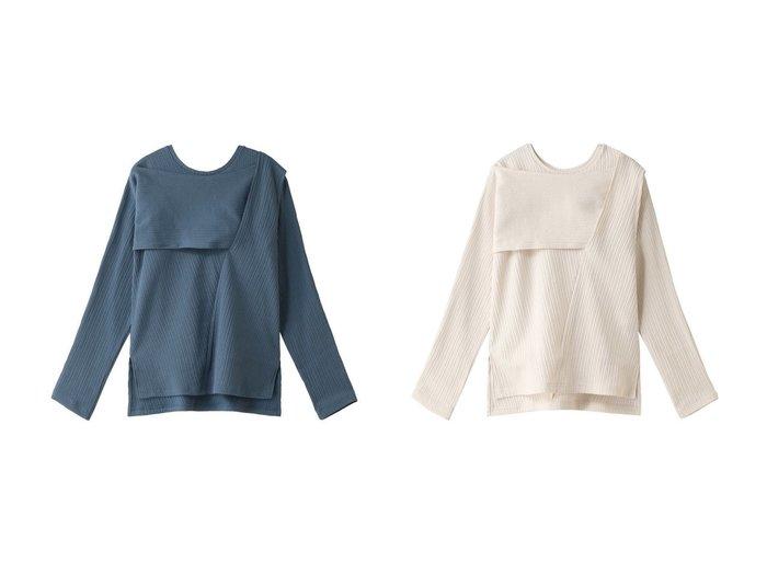 【MAISON SPECIAL/メゾンスペシャル】のクリンプリブトップ MAISON SPECIALのおすすめ!人気、トレンド・レディースファッションの通販 おすすめファッション通販アイテム レディースファッション・服の通販 founy(ファニー) ファッション Fashion レディースファッション WOMEN トップス カットソー Tops Tshirt シャツ/ブラウス Shirts Blouses ロング / Tシャツ T-Shirts カットソー Cut and Sewn 2021年 2021 2021 春夏 S/S SS Spring/Summer 2021 S/S 春夏 SS Spring/Summer アシメトリー ストライプ スリーブ ボレロ ロング 春 Spring 長袖 |ID:crp329100000020618