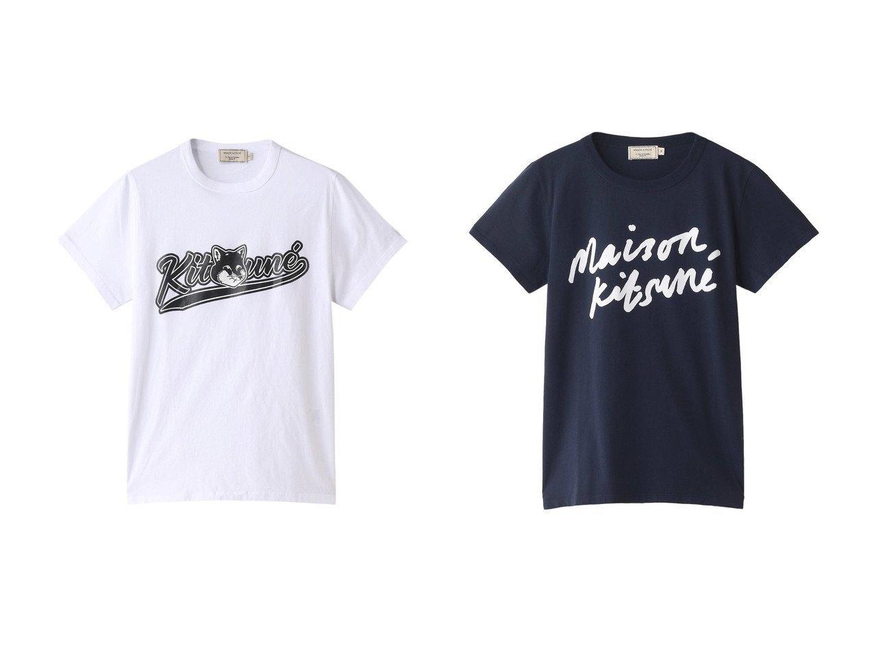 【MAISON KITSUNE/メゾン キツネ】のVARSITY FOX CLASSIC TEE-Tシャツ&HANDWRITING CLASSIC TEE-Tシャツ MAISON KITSUNEのおすすめ!人気、トレンド・レディースファッションの通販 おすすめで人気の流行・トレンド、ファッションの通販商品 メンズファッション・キッズファッション・インテリア・家具・レディースファッション・服の通販 founy(ファニー) https://founy.com/ ファッション Fashion レディースファッション WOMEN トップス カットソー Tops Tshirt シャツ/ブラウス Shirts Blouses ロング / Tシャツ T-Shirts カットソー Cut and Sewn 2021年 2021 2021 春夏 S/S SS Spring/Summer 2021 S/S 春夏 SS Spring/Summer ショート シンプル スリーブ フォックス プリント ロング 春 Spring |ID:crp329100000020625