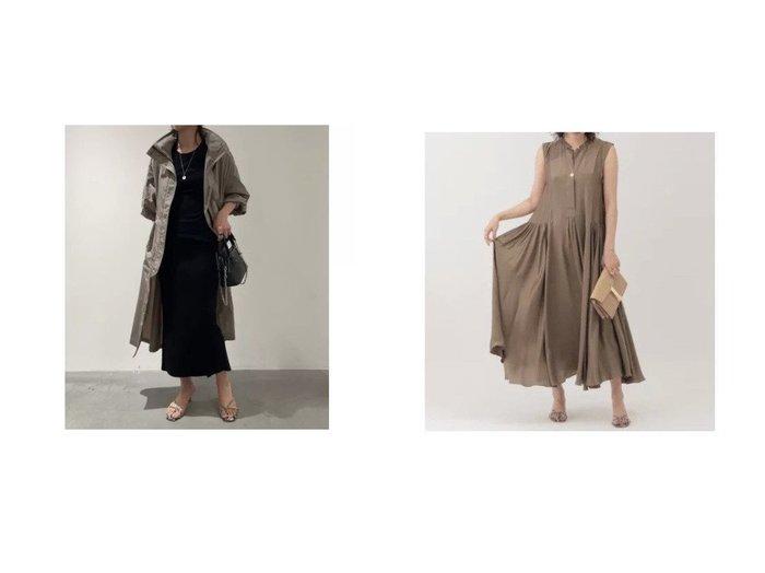 【Chaos/カオス】のGLプリズムライトコート&サンディングシルクワンピース カオスのおすすめ!人気、トレンド・レディースファッションの通販 おすすめファッション通販アイテム インテリア・キッズ・メンズ・レディースファッション・服の通販 founy(ファニー) https://founy.com/ ファッション Fashion レディースファッション WOMEN アウター Coat Outerwear コート Coats ワンピース Dress ショール スタンド フェミニン ロング 洗える サテン シルク ノースリーブ |ID:crp329100000020648