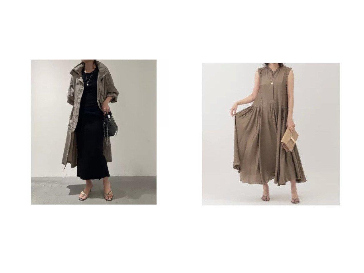 【Chaos/カオス】のGLプリズムライトコート&サンディングシルクワンピース カオスのおすすめ!人気、トレンド・レディースファッションの通販 おすすめで人気の流行・トレンド、ファッションの通販商品 メンズファッション・キッズファッション・インテリア・家具・レディースファッション・服の通販 founy(ファニー) https://founy.com/ ファッション Fashion レディースファッション WOMEN アウター Coat Outerwear コート Coats ワンピース Dress ショール スタンド フェミニン ロング 洗える サテン シルク ノースリーブ |ID:crp329100000020648