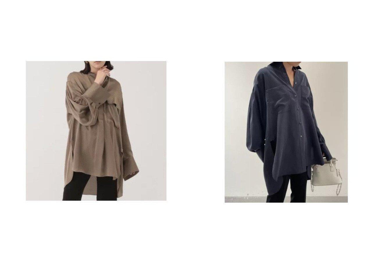 【Chaos/カオス】のCSシルクサンドシャツ&サンディングシルクブラウス カオスのおすすめ!人気、トレンド・レディースファッションの通販 おすすめで人気の流行・トレンド、ファッションの通販商品 メンズファッション・キッズファッション・インテリア・家具・レディースファッション・服の通販 founy(ファニー) https://founy.com/ ファッション Fashion レディースファッション WOMEN トップス カットソー Tops Tshirt シャツ/ブラウス Shirts Blouses カフス シルク トレンド リュクス ルーズ 長袖 |ID:crp329100000020651