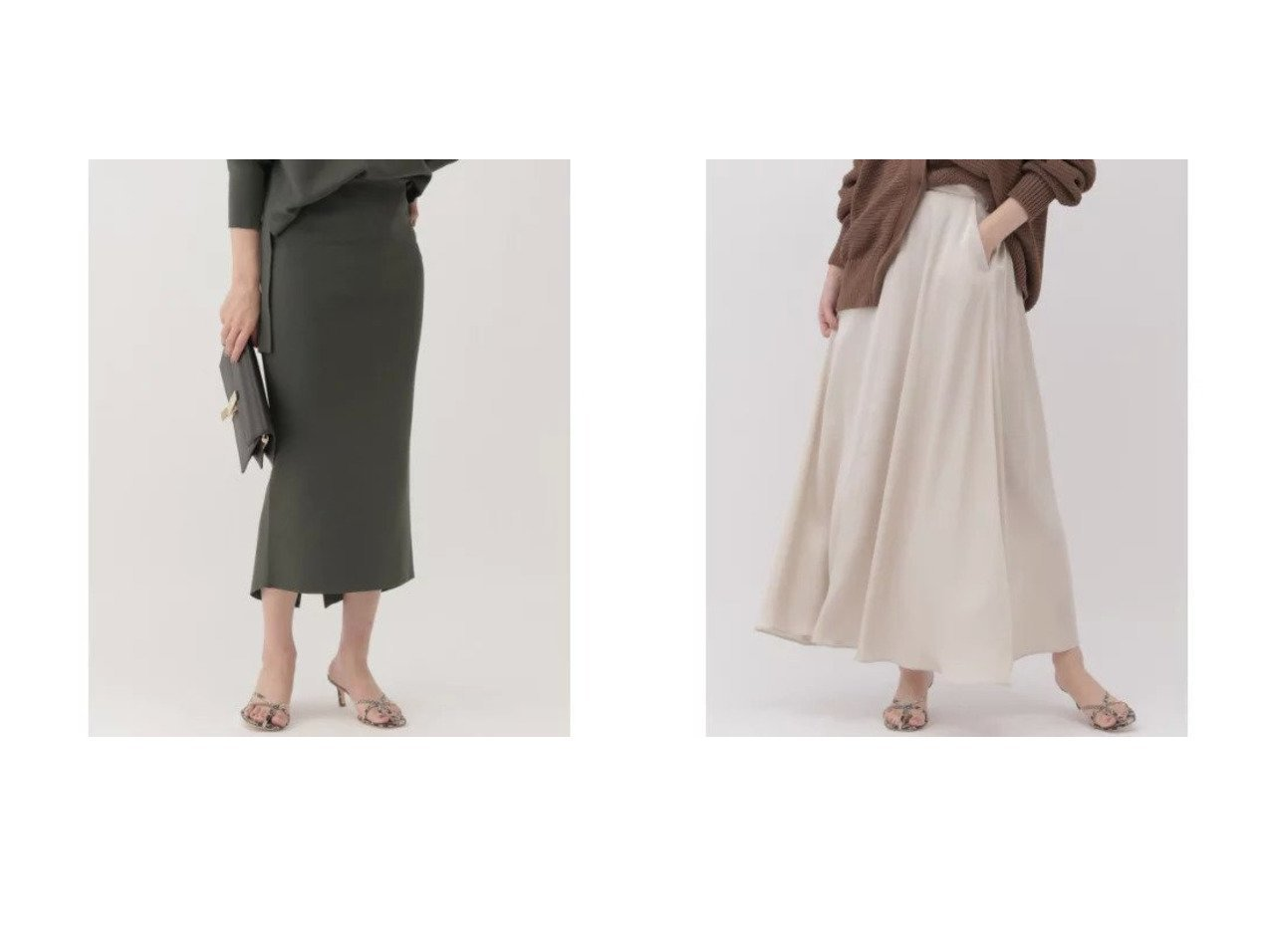 【Chaos/カオス】のシルクコンミラノリブタイトスカート&ジュールサテンフレアースカート カオスのおすすめ!人気、トレンド・レディースファッションの通販 おすすめで人気の流行・トレンド、ファッションの通販商品 メンズファッション・キッズファッション・インテリア・家具・レディースファッション・服の通販 founy(ファニー) https://founy.com/ ファッション Fashion レディースファッション WOMEN スカート Skirt シルク シンプル パターン マキシ ロング |ID:crp329100000020653